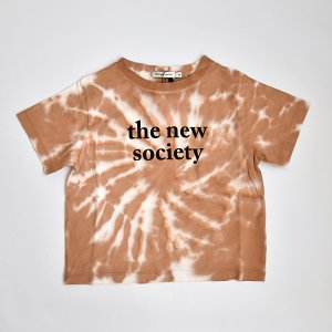 【the new society】【2021 SS】  THE NEW SOCIETY TEE - CARAMEL