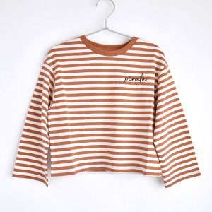 【the new society】【2021 SS】  SAILOR TEE - CARAMEL