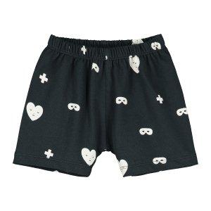 【BEAU LOVES】Black Hearts + Masks Baby Shorts