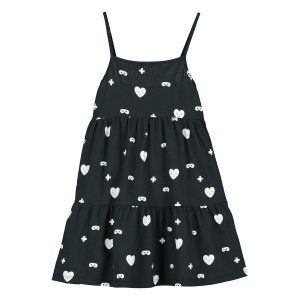 <img class='new_mark_img1' src='https://img.shop-pro.jp/img/new/icons24.gif' style='border:none;display:inline;margin:0px;padding:0px;width:auto;' />【BEAU LOVES】Black Hearts + Masks Dress
