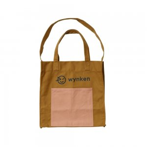 【wynken】Wynken Pocket Tote Bag - Tan / Pink