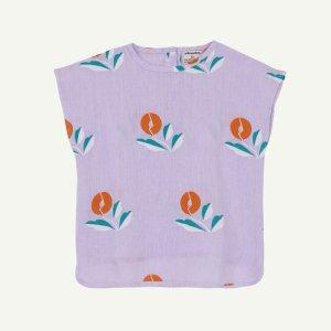 【yellowpelota】【21SS】 Plant linen blouse - Mauve