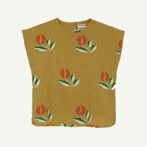 【yellowpelota】【21SS】 Plant linen blouse - Olive