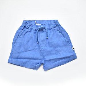 【my little cozmo】【21SS】LINEN KIDS BERMUDA SHORT - ROYAL BLUE
