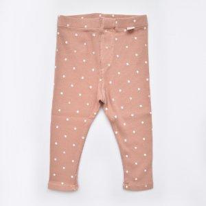 【my little cozmo】【21SS】ORGANIC RIB PRINT KIDS LEGGINGS - TERRA COTTA