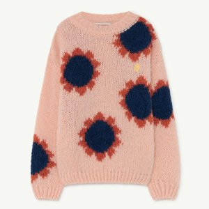 TAO / THE ANIMALS OBSERVATORY / FLOWER BULL KIDS SWEATER / PINK