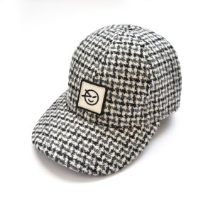 【wynken】Badge Cap / OATMEAL DOGTOOTH