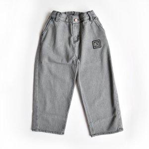 【wynken】Barrel Leg Jean / BLACK BLEACHED DENIM