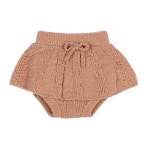 【buho】BABY FINE KNIT CULOTTE SKIRT / ANTIC ROSE