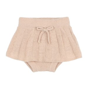 【buho】BABY FINE KNIT CULOTTE SKIRT / NUDE