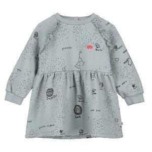 【BEAU LOVES】Washed Grey Galaxy Raglan Frill Sleeve Baby Dress