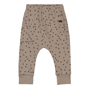 【BEAU LOVES】Washed Brown Wish Upon A Star Baby Fleece Pants