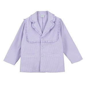 【BEAU LOVES】Orchid Frill Detail Corduroy Tailored Jacket