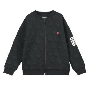 【BEAU LOVES】Black Hearts 'Give Love' Zip Jacquard Jacket