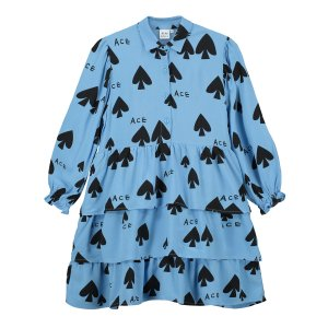 【BEAU LOVES】Blue Ace Trio Tiered Dress