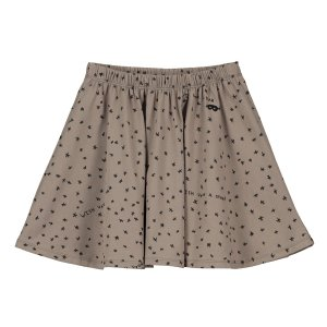【BEAU LOVES】Washed Brown Wish Upon A Star Jersey Circle Skirt