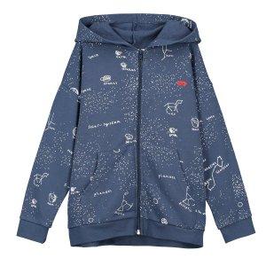 【BEAU LOVES】Navy Galaxy Relaxed Fit Zip Hoodie
