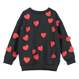 【BEAU LOVES】Black All the Hearts Sweater