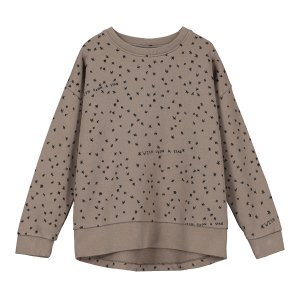 【BEAU LOVES】Washed Brown Wish Upon A Star Relaxed Fit Sweater