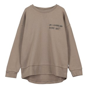 【BEAU LOVES】Washed Brown 'Crew' Relaxed Fit Sweater