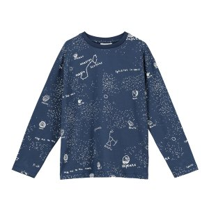 【BEAU LOVES】Navy Galaxy Long Sleeve T-shirt
