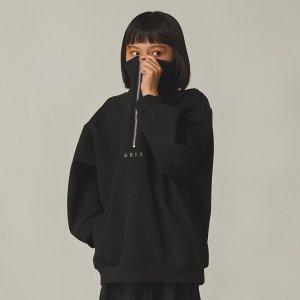 【GRIS】Half Zip Blouson / KURO