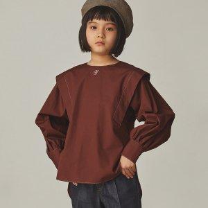 【GRIS】Tuck Shoulder Shirt / Burgundy