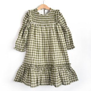 【the new society】DOMINIQUE DRESS / HERB CHECK