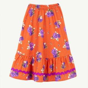 【yellowpelota】 Folklore skirt / Orange
