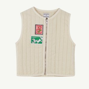 【yellowpelota】 Tarasp waistcoat / Natural
