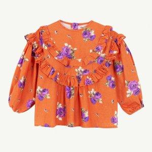 【yellowpelota】 Folklore blouse / Orange