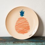 <img class='new_mark_img1' src='https://img.shop-pro.jp/img/new/icons59.gif' style='border:none;display:inline;margin:0px;padding:0px;width:auto;' />[MAISON BOBO CHOSES]MelaminePlate Pineapple