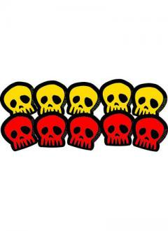 ・atla girls Small Red & Yellow SKULL 10枚セット