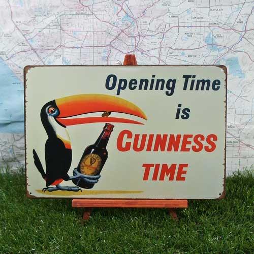 【ブリキ看板】Guinness/ギネス Opening Time