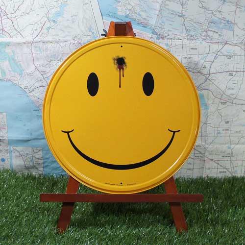 【ブリキ看板】Smiley/スマイリー Smile Shot 丸型