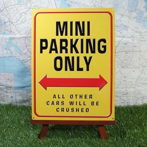【ブリキ看板】Mini Cooper/ミニ・クーパー Mini Parking Only
