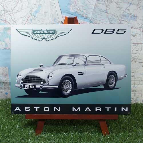 【ブリキ看板】Aston Martin/アストンマーチン DB5 -2-