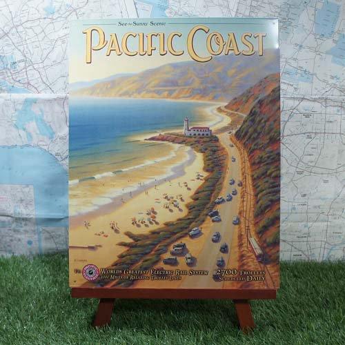 【ブリキ看板】Pacific Coast/パシフィック・コースト -PE-