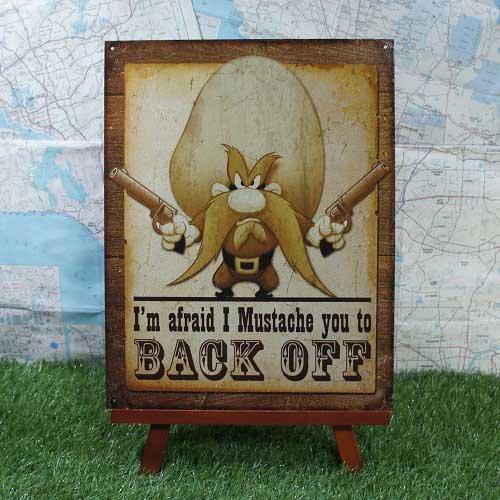 【ブリキ看板】Yosemite Sam/ヨセミテ・サム Back Off