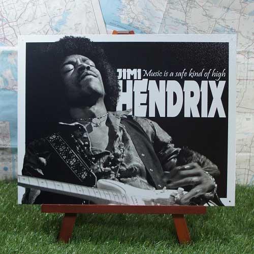 【ブリキ看板】Jimi Hendrix/ジミ・ヘンドリックス High