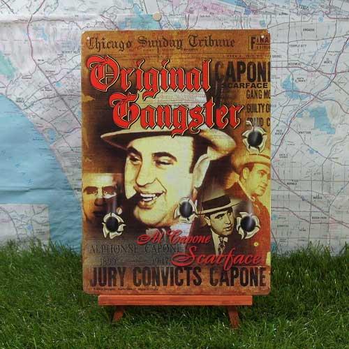 【ブリキ看板】Al Capone/アル・カポネ Original Gangster