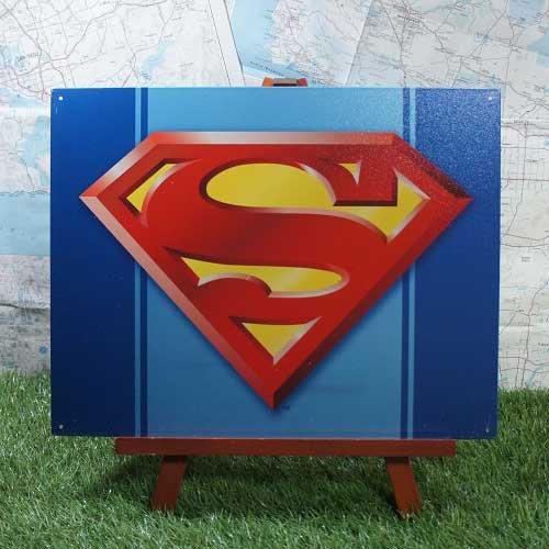 【ブリキ看板】Superman/スーパーマン ロゴ