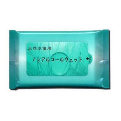 【国産】天然水使用 ノンアルコールウェット 10枚入/エメラルドグリーン