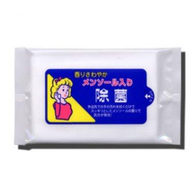 【国産】メンソール入り除菌ウェット 10枚入/ホワイト
