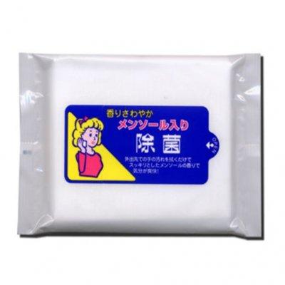 【国産】メンソール入り除菌ウェット お徳用 20枚入