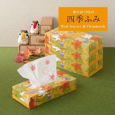 【国産】四季ふみ秋のおくりもの/ボックスティッシュ