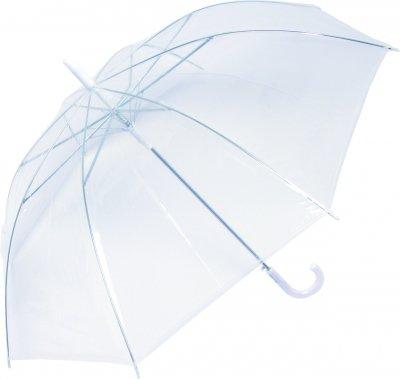 長傘 ビニール・透明ジャンプ 60cm(白)