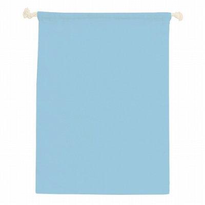 コットン巾着(L)/ライトブルー