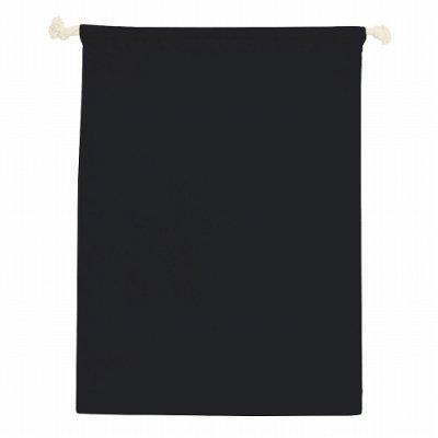 コットン巾着(L)/ブラック