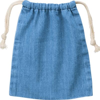 デニム巾着(S)/ヴィンテージブルー